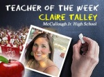 Teacher of the Week: Claire Talley, McCullough Junior High