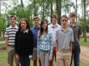 Pictured from left are Cooper visual arts students who won national awards from the 2014 Scholastic Art and Writing Awards competition: A.J. Harkness, Mikaela Sargent, Joe Lindley, Grace Lawson, Tristan Craig, Theo Jeremiah and Sam Dowd.