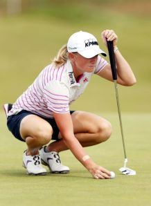 The Woodlands' Stacy Lewis was the top player in the initial women's Olympic Golf Rankings, released Monday.