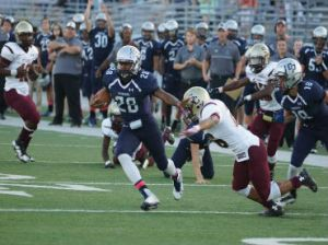 Sanders breaking another big run in a College Park victory Saturday night