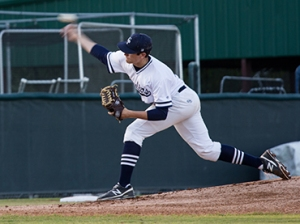 College Park starting pitcher Beau Ridgeway struck out 10 batters against The Woodlands on Tuesday night in the Cavaliers 4-2 district win.