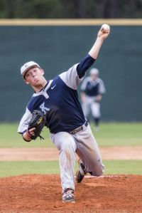 Kingwood's Blake Gould (11) pitches during Kingwood's victory over Waltrip on March 11, 2015, at Kingwood High School.