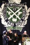 Valedictorian Alejandra Rubi Resendez is awarded her diploma by CISD Superintendent Don Stockton during the College Park graduation on Monday, June 1, 2015, at the Cynthia Woods Mitchell Pavilion.