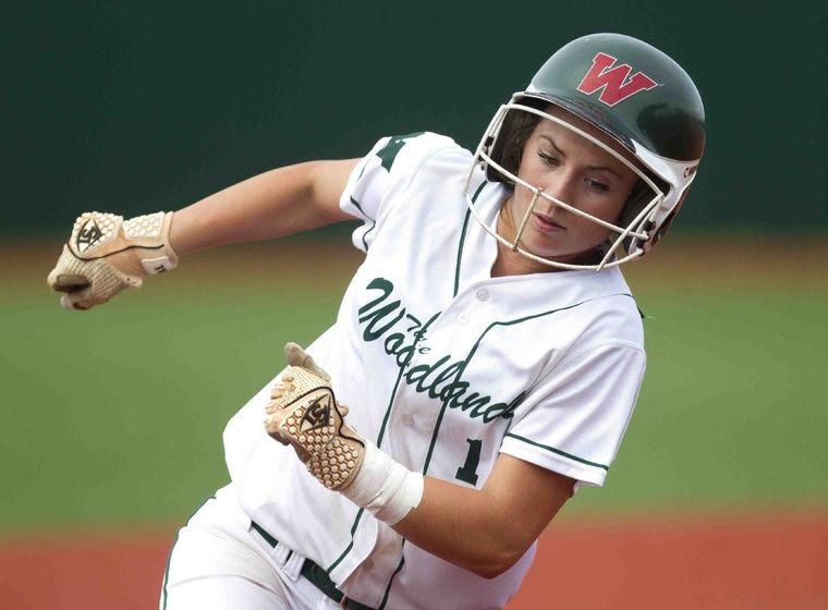 Senior shortstop Aubrey Leach is one of the veterans returning to the state tournament this season for The Woodlands. Leach will play at national power Tennessee next season.