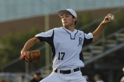 Dallas Jesuit pitcher Jacob Palisch delivers a pitch to start the Class 6A Region II semifinal game 2 of three between Austin Lake Travis and Dallas Jesuit at Dallas Jesuit High School in Dallas on Friday, May 29, 2015