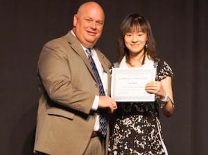 College Park Principal Dr. Mark Murrell & recent graduate, Anni Blair