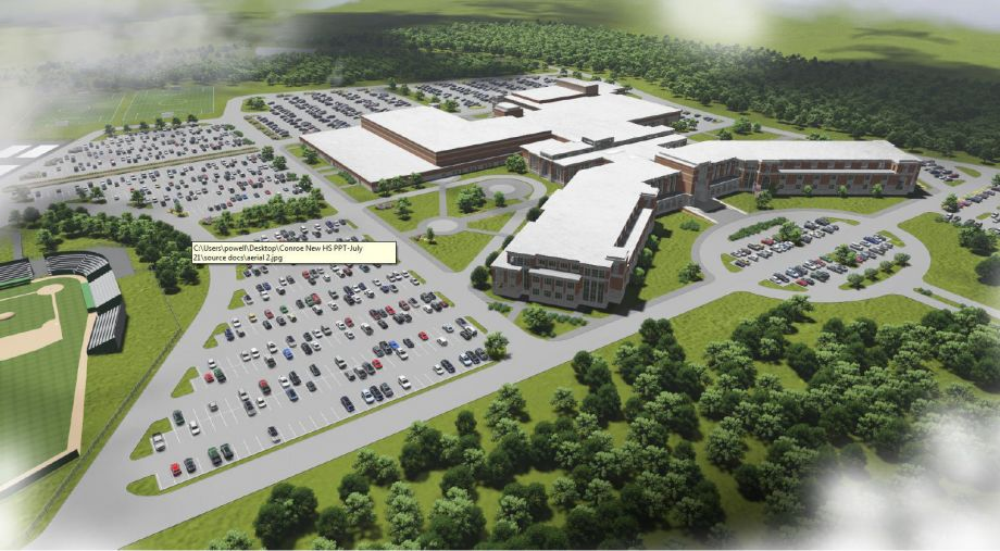 Conroe ISD unveils design plans for new high school