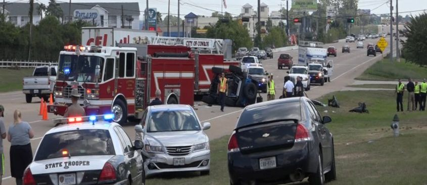 A family of four, including children between ages 4 and 7, were killed after a three-vehicle accident Sunday along Texas 105 in Conroe.