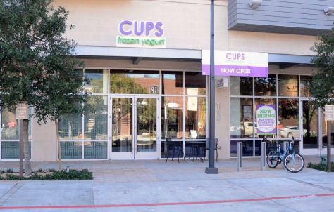The new Cups Frozen Yogurt, 1950 Hughes Landing Boulevard #1700 in The Woodlands. Nair has opened the first Houston area franchise of New Jersey based Cups Frozen Yogurt.