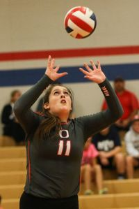 Oak Ridge's Carly Graham and the Lady War Eagles moved to the Region II-6A quarterfinals on Friday.