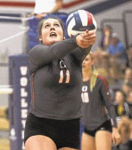 Oak Ridge's Carly Graham returns a hit earlier this season against Montgomery. The Lady Ear Eagles play Highland Park in the Region II-6A semifinals Friday.