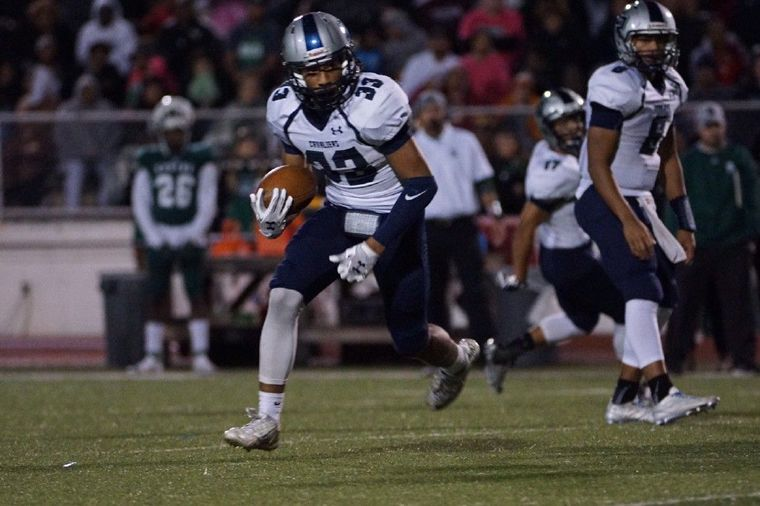 College Park's Dominic Garcia looks for running room against Spring on Friday night.