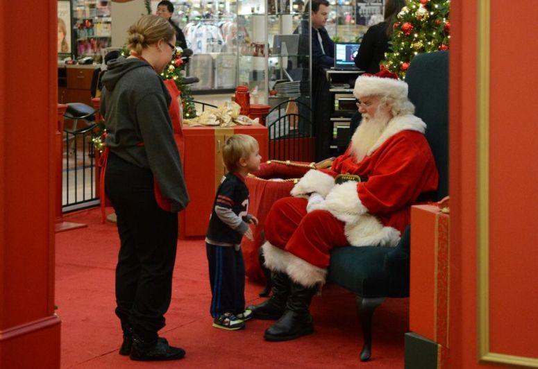 Mattox Mulkey, 3, of Spring, visits with Santa at The Woodlands Mall on Nov. 16th.
