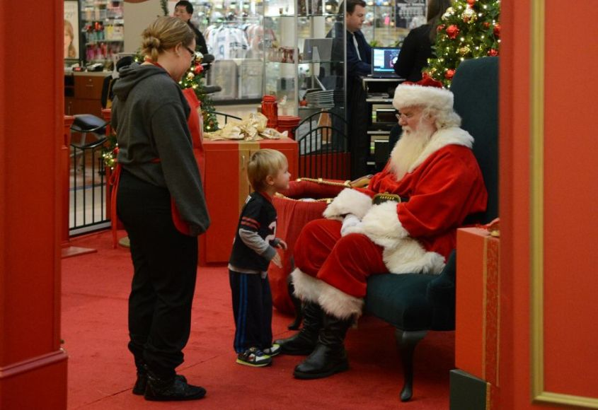Mattox Mulkey, 3, of Spring, visits with Santa at The Woodlands Mall on Nov. 16th.
