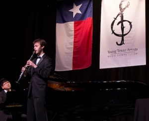 Clarinetist Graeme Johnson, Young Texas Artists Music Competition 2014 Silver Medalist in the Winds, Brass, Percussion, Harp and Guitar division, earned his bachelor's degree in clarinet performance from The University of Texas at Austin and is presently studying at Yale University for a Master of Music degree. The next YTA Music Competition is set for March 10-12, 2016, at the historic Crighton Theatre in Conroe, Texas. Photo courtesy of Young Texas Artists Music Competition