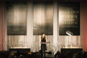 """Gillian Flynn, author of """"Gone Girl,"""" gives the keynote address during the John Cooper School's Signatures Author Series event on Friday at the The Woodlands Waterway Marriott Hotel & Convention Center."""