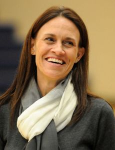College Park girls basketball coach Michelle Richardson during the Oak Ridge at College Park girls basketball game.