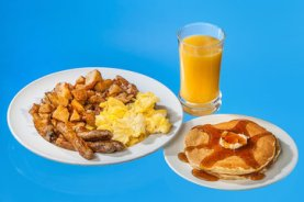 IHOP Classic Skillet, with sausage (1,880); orange juice (110).